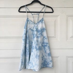 Acid wash strap tie dye dress LF by rumor boutique